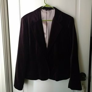 Beautiful Chocolate Brown Velvet blazer size 14